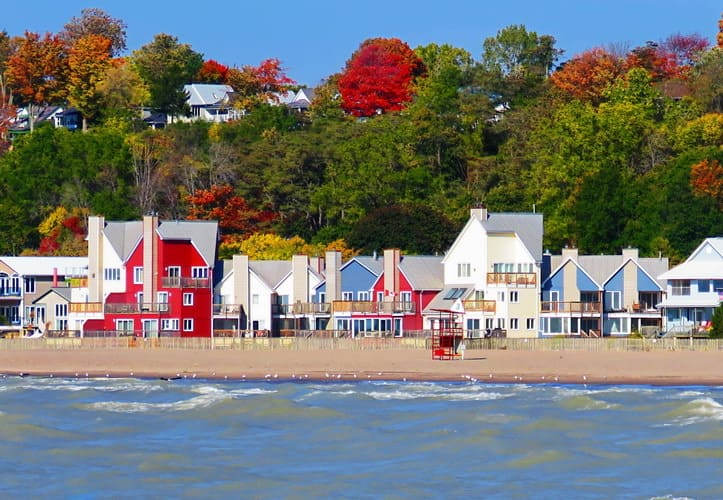 The Port Stanley Main Beach overview